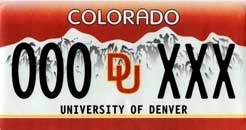 DU License Plate